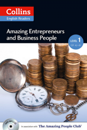 Collins English Readers Amazing Entrepreneurs And Business People Level 1 Cef A2 + Cd (PB) BooksInn Shop Pakistan