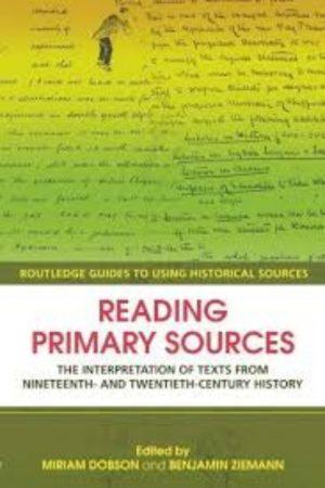 Reading Primary Sources (PB) BooksInn Shop Pakistan