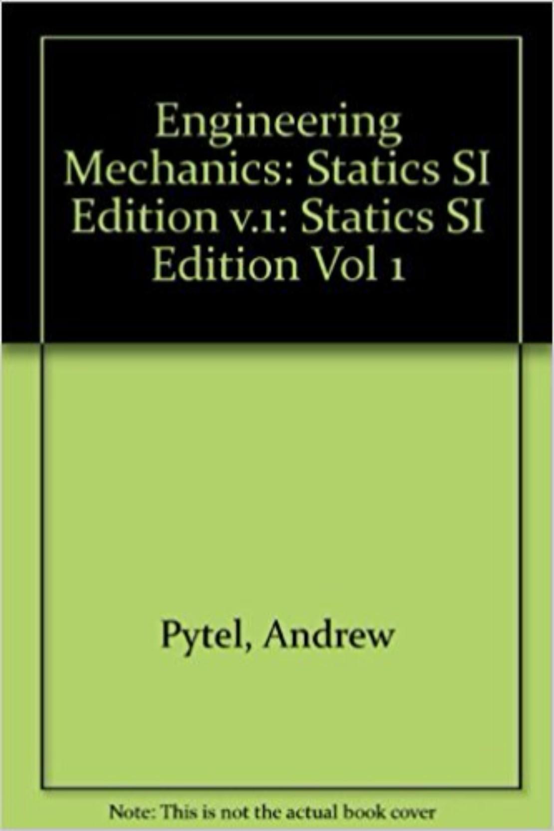 ENGINEERING MECHANICS STATICS SI ED (HB)
