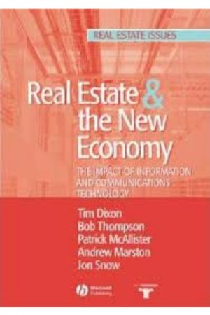 Real Estate & The New Economy The Impact Of Information And Communication Technology (PB) BooksInn Shop Pakistan