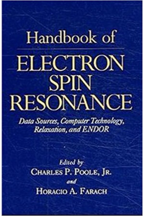 Handbook Of Electron Spin Resonance: Data Sources
