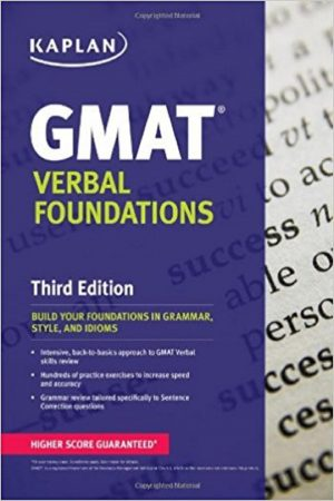 Gmat Verbal Foundations 3/E (PB) BooksInn Shop Pakistan