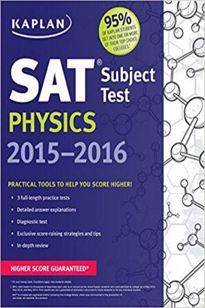 Sat Subject Test Physics 2015-2016 (PB) BooksInn Shop Pakistan