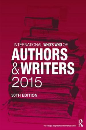 International Who'S Who Of Authors & Writers 2015 30/E (HB) BooksInn Shop Pakistan
