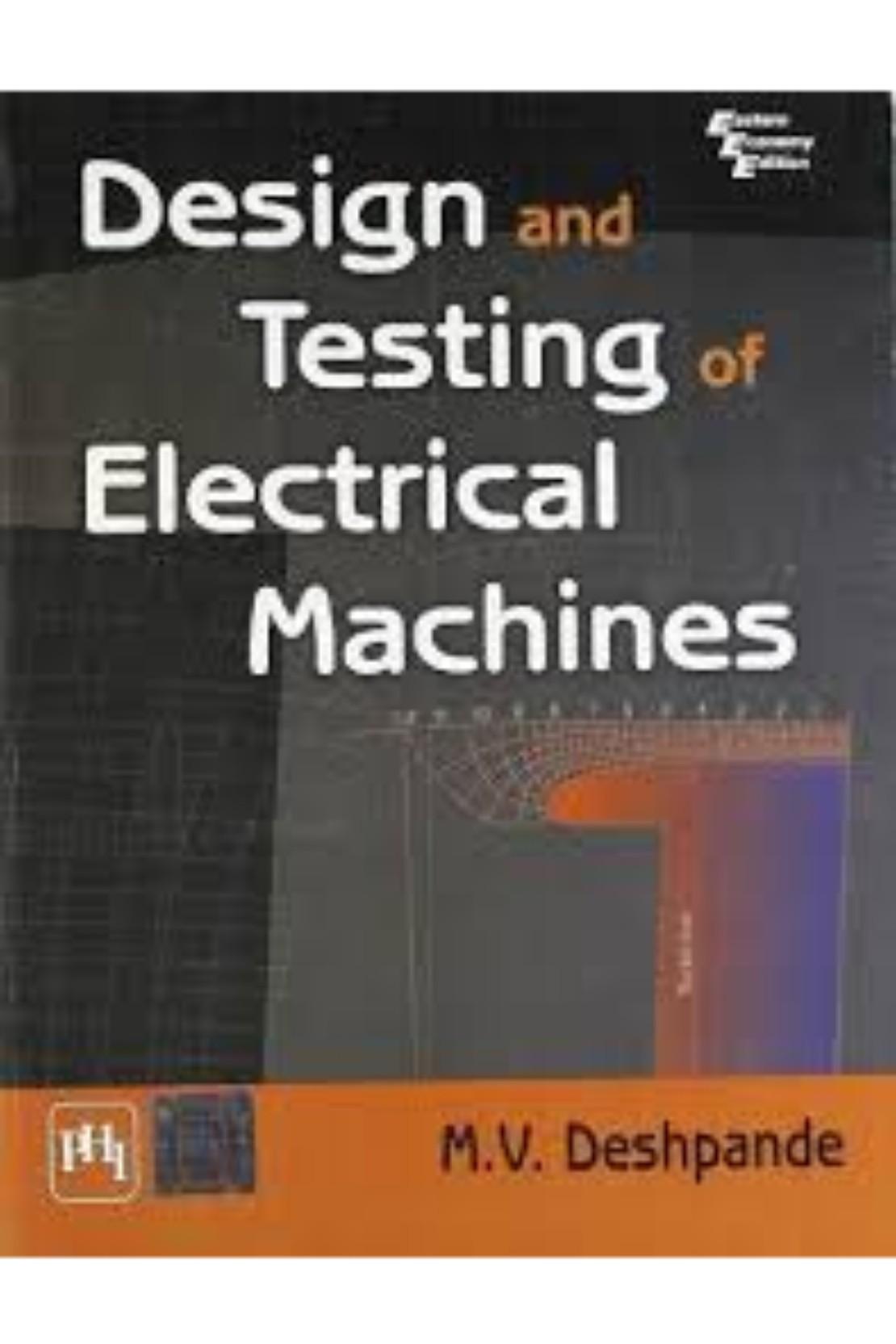 Design Of Electrical Machines Book
