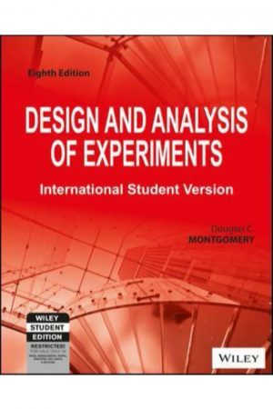 Design And Analysis Of Experiments 8/E (PB) BooksInn Shop Pakistan