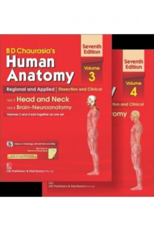 B D Chaurasia'S Human Anatomy: Regional & Applied Dissection Clinical Set: Head And Neck: Brain-Neuroanatomy 7/E Vol 3 & 4 + Cd & Wall Chart (PB) BooksInn Shop Pakistan